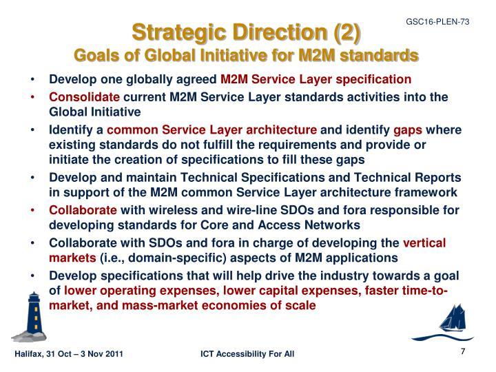 Strategic Direction (2)