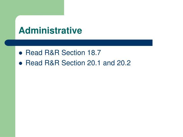 Administrative