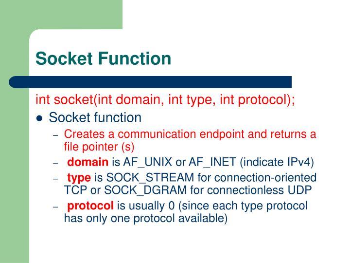 Socket Function