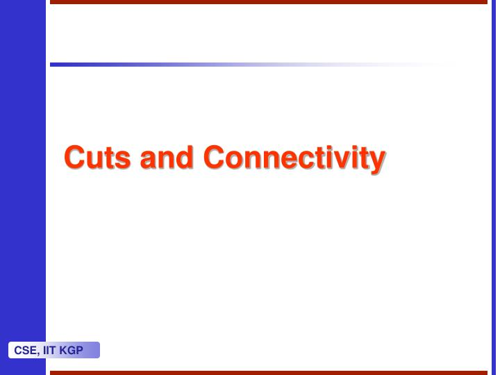 cuts and connectivity n.