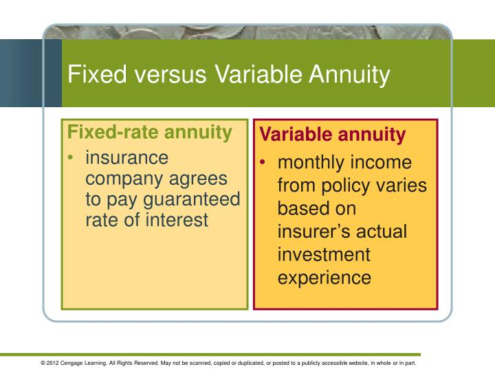 Fixed versus Variable Annuity