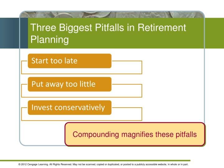 Three Biggest Pitfalls in Retirement Planning