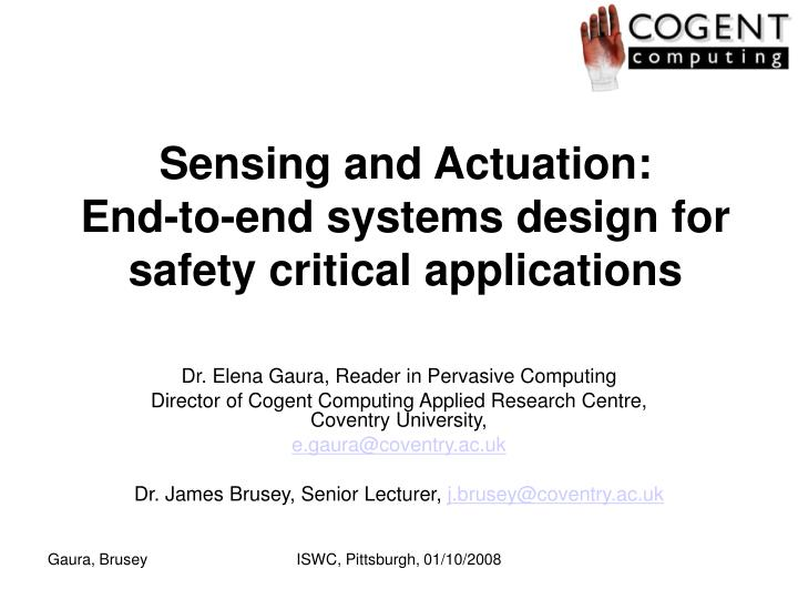Sensing and Actuation: