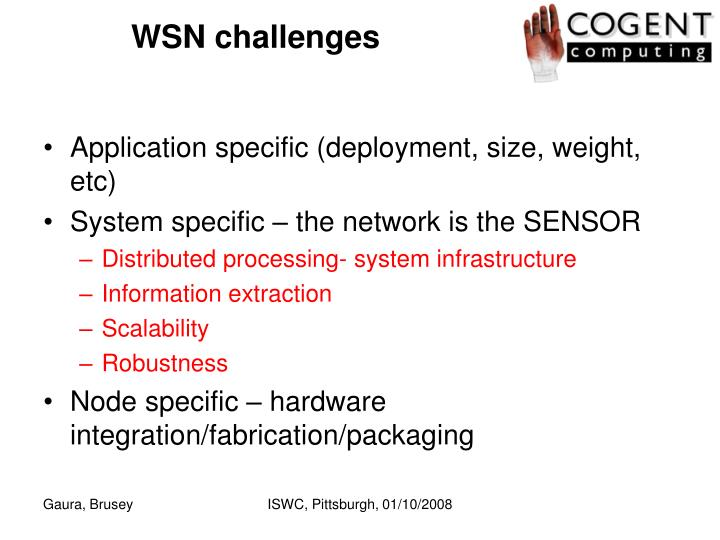 WSN challenges