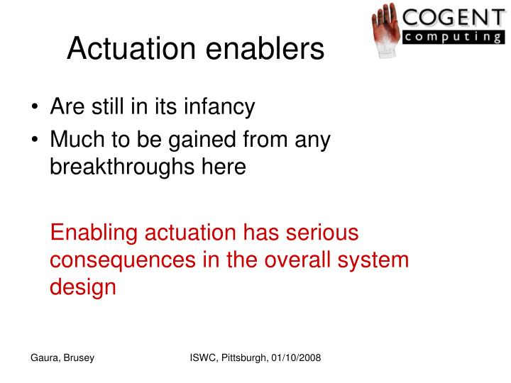 Actuation enablers