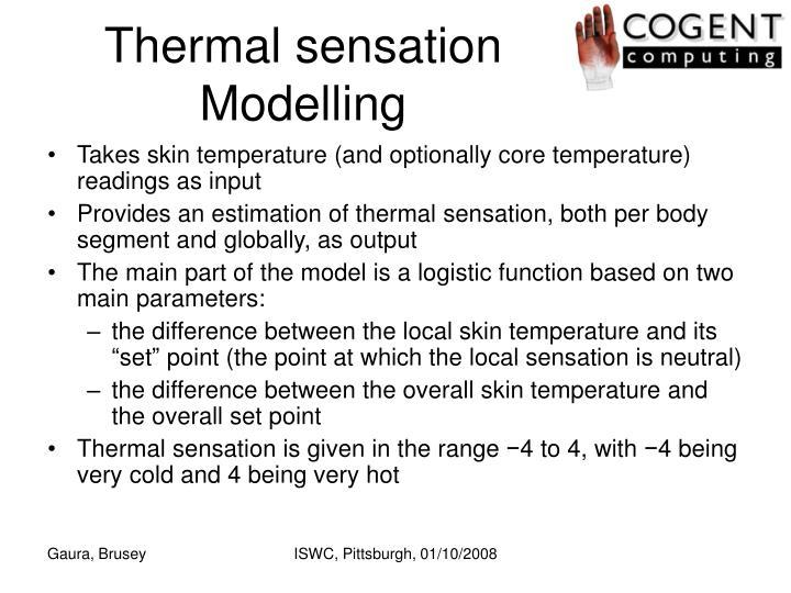 Thermal sensation Modelling