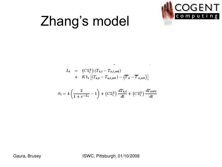 Zhang's model
