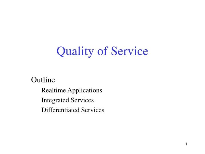 quality of service n.