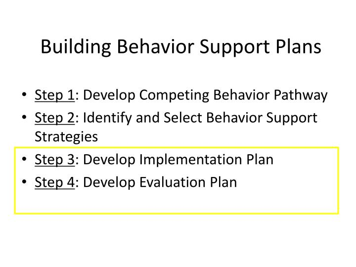 Building Behavior Support Plans