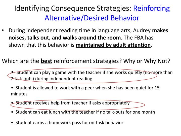 Identifying Consequence Strategies:
