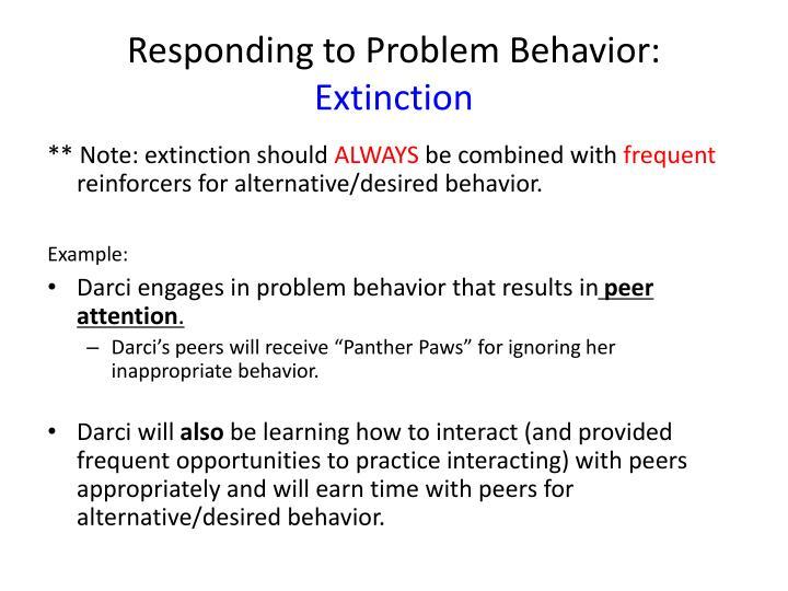 Responding to Problem Behavior: