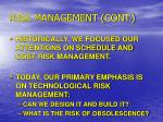 risk management cont