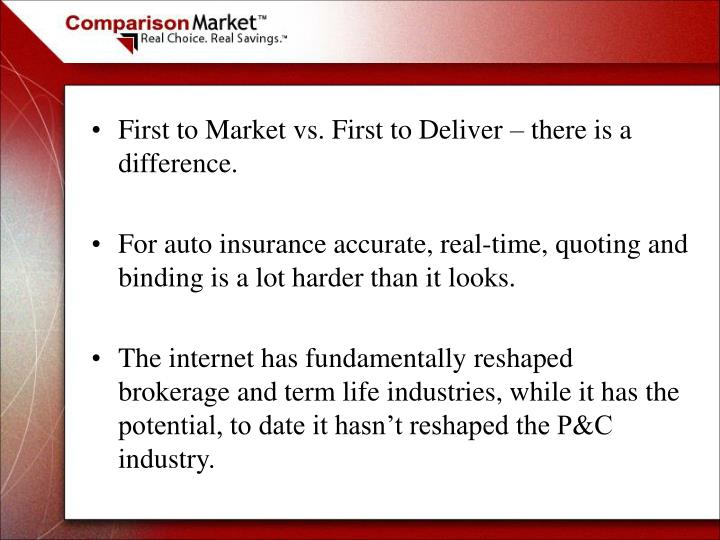 First to Market vs. First to Deliver – there is a difference.