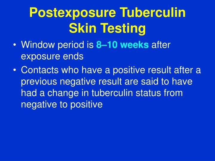 Postexposure Tuberculin