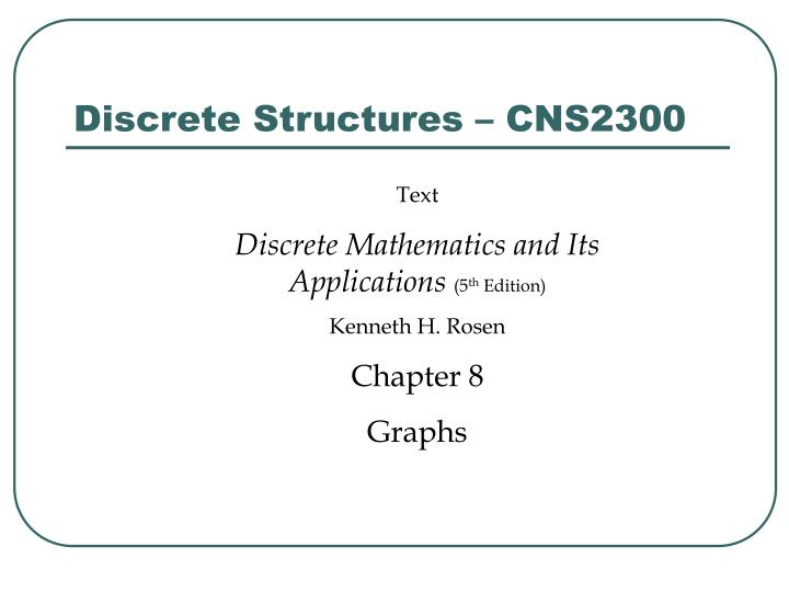 discrete structures cns2300 n.