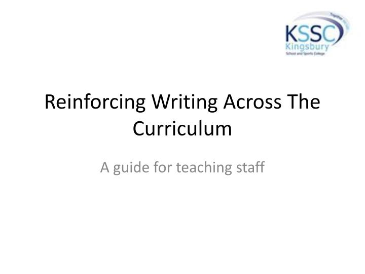 reinforcing writing across the curriculum n.