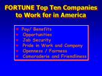 fortune top ten companies to work for in america