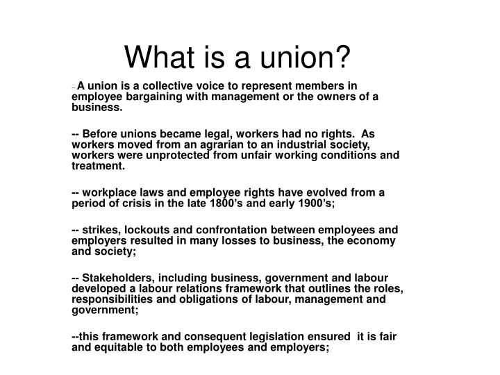 what is a union n.