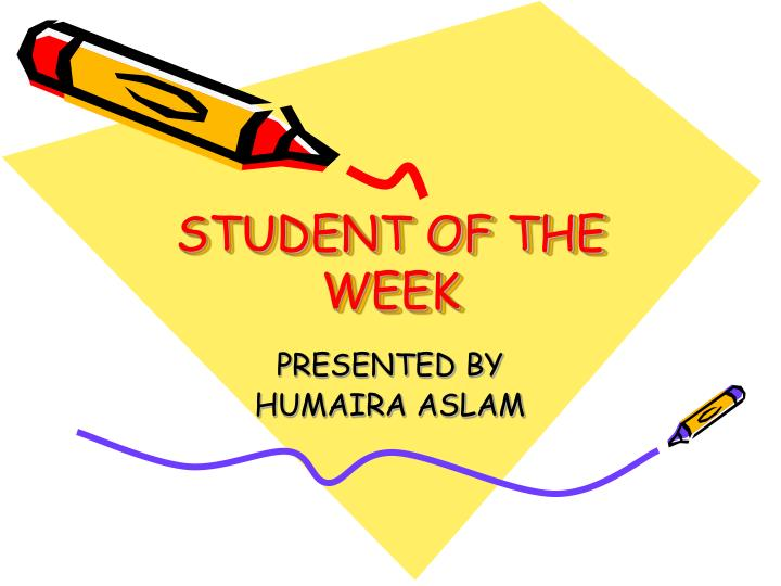 student of the week n.