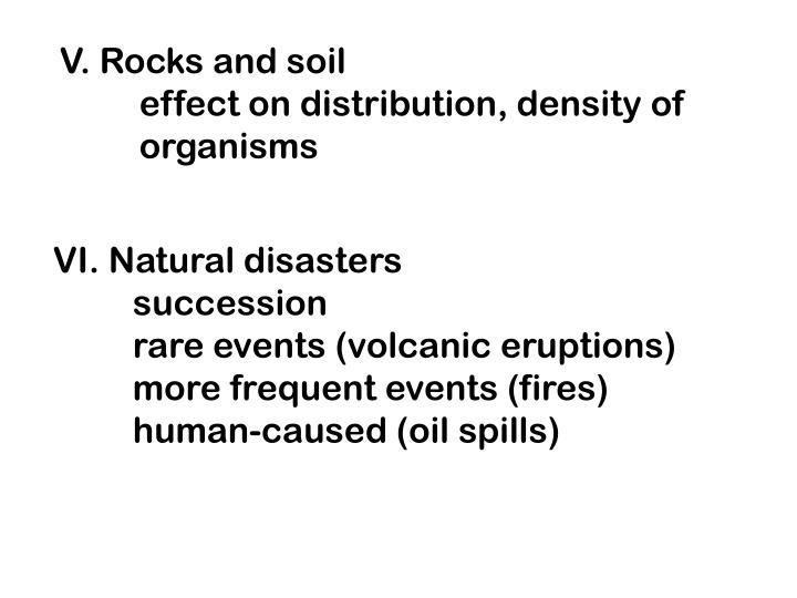 V. Rocks and soil