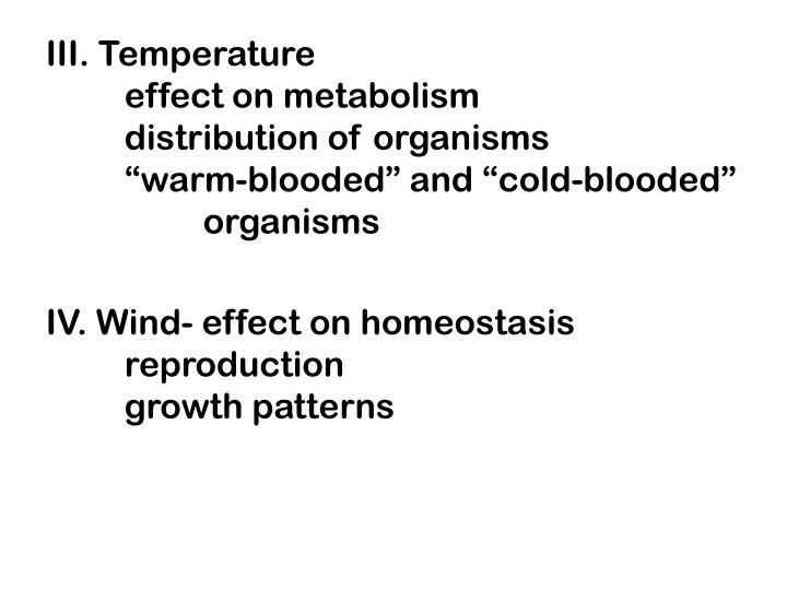 III. Temperature