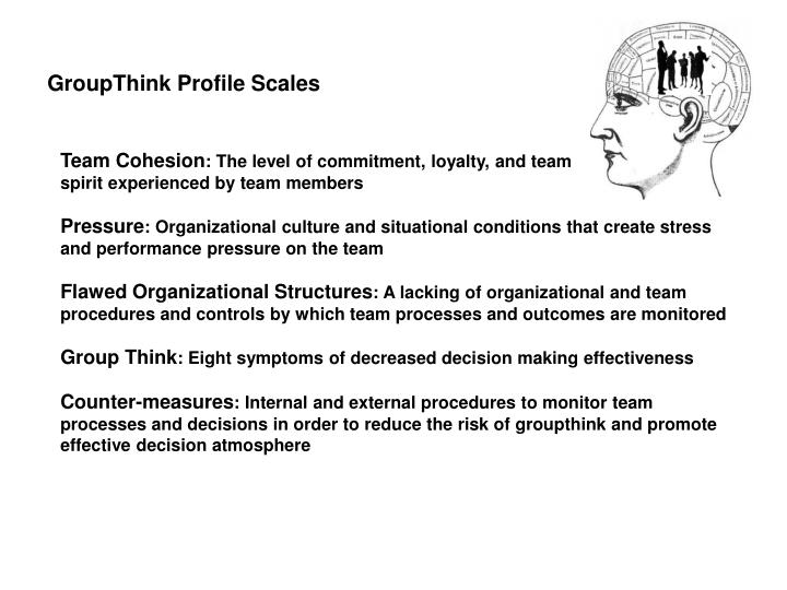 GroupThink Profile Scales