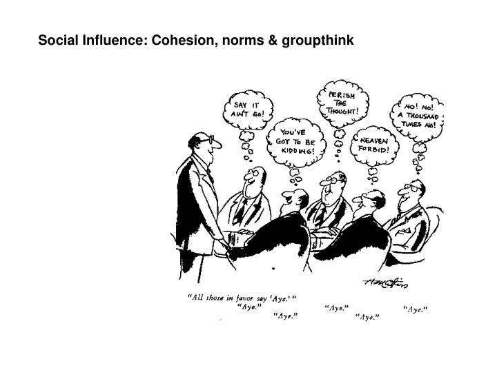 Social Influence: Cohesion, norms & groupthink