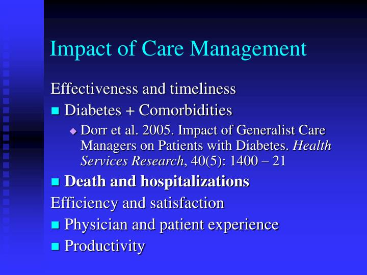 Impact of Care Management