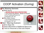 coop activation during