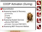 coop activation during1