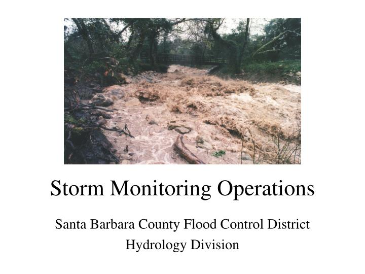 storm monitoring operations n.