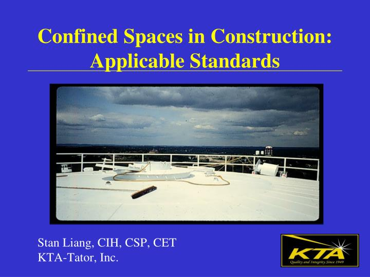 confined spaces in construction applicable standards n.