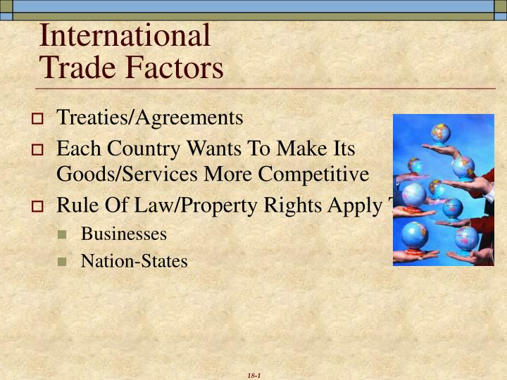 international trade factors n.
