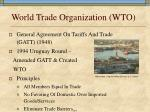 world trade organization wto