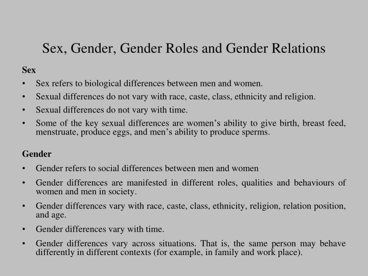 gender roles and religion essay This is an essay i wrote a few years ago abstract the islamic religion is well known for its universal laws of abstinence before marriage, no toleration of alcohol, and other such distinctions.