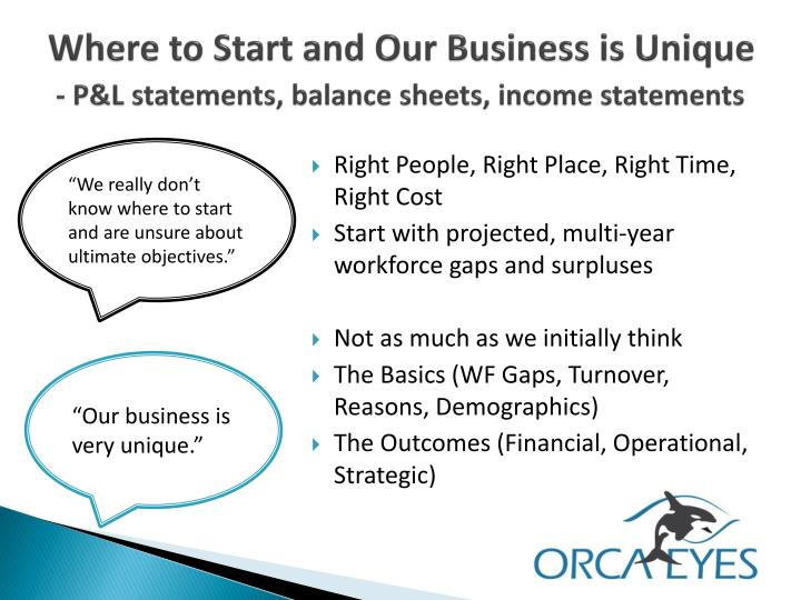 Where to Start and Our Business is Unique