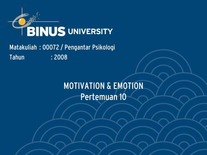 motivation emotion pertemuan 10 n.