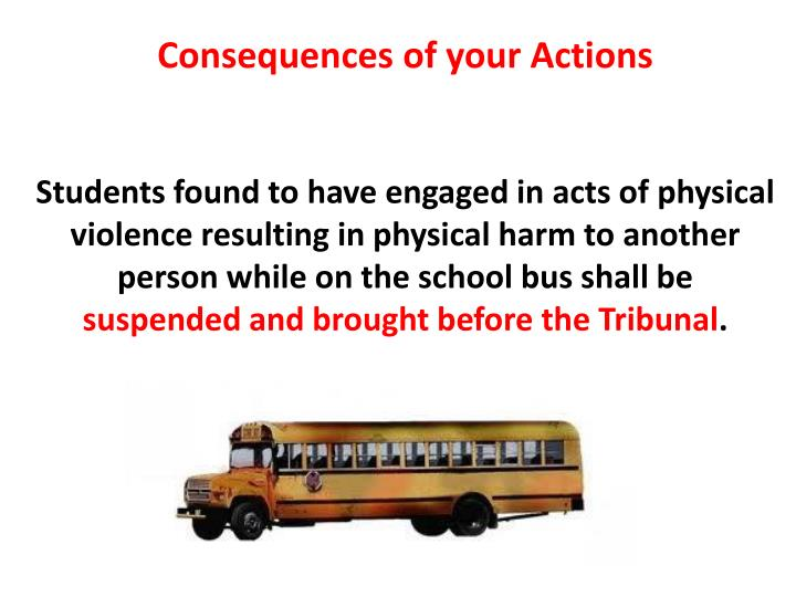 Consequences of your Actions