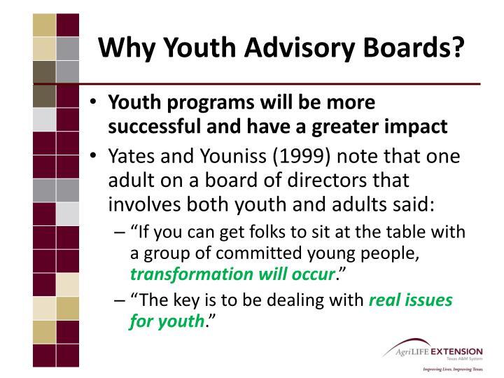 Why Youth Advisory Boards?