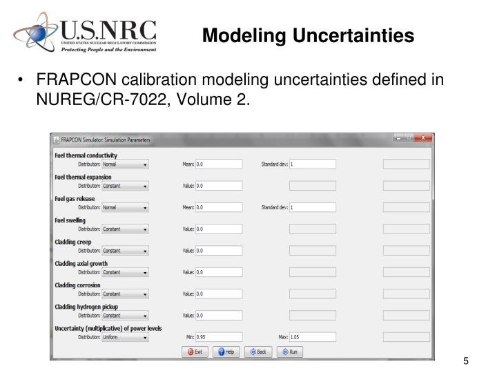 Modeling Uncertainties