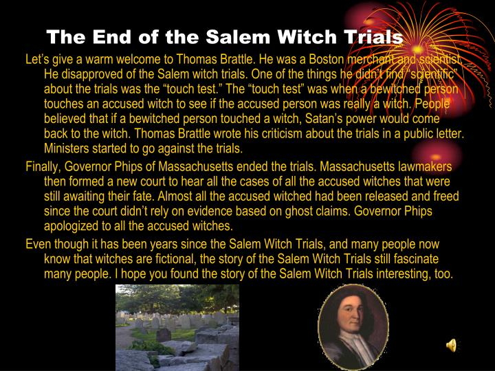 history of the salem witch trials An original, extremely rare document from one of the salem witch trials in 1692 just went up for auction at christie's in new york read more.