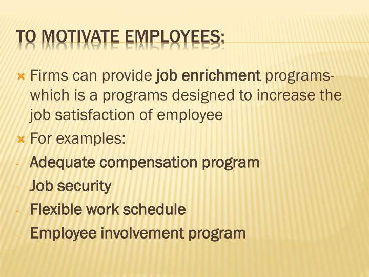 Firms can provide