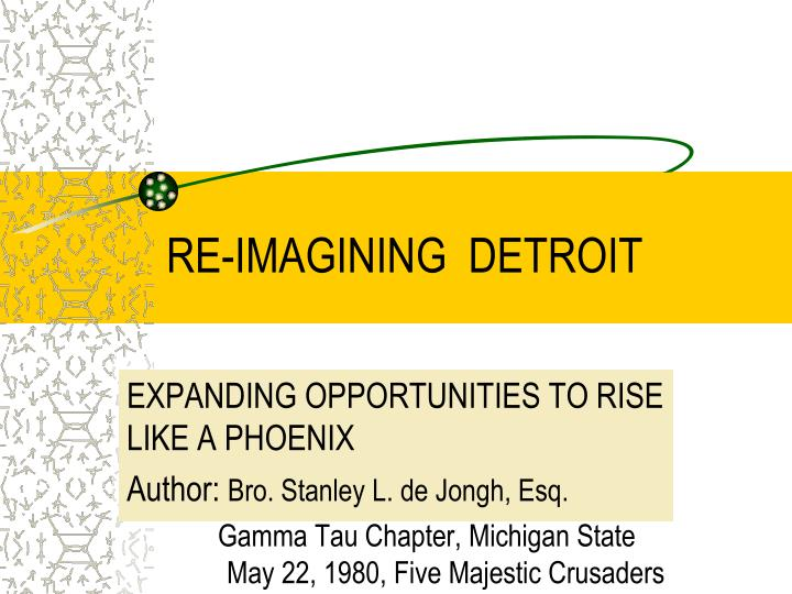 re imagining detroit n.