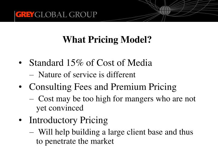 What Pricing Model?