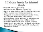 7 7 group trends for selected metals1