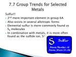 7 7 group trends for selected metals2