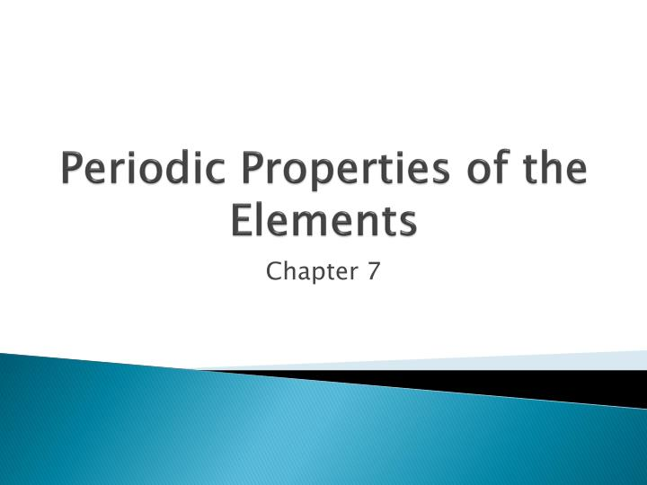 periodic properties of the elements n.