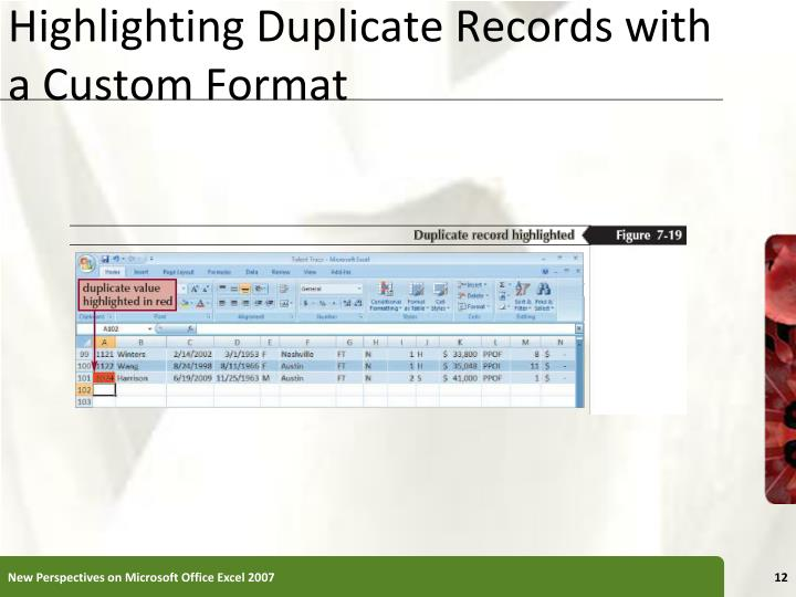 Highlighting Duplicate Records with a Custom Format