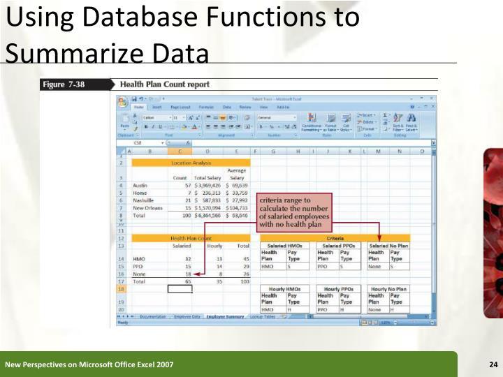 Using Database Functions to Summarize Data