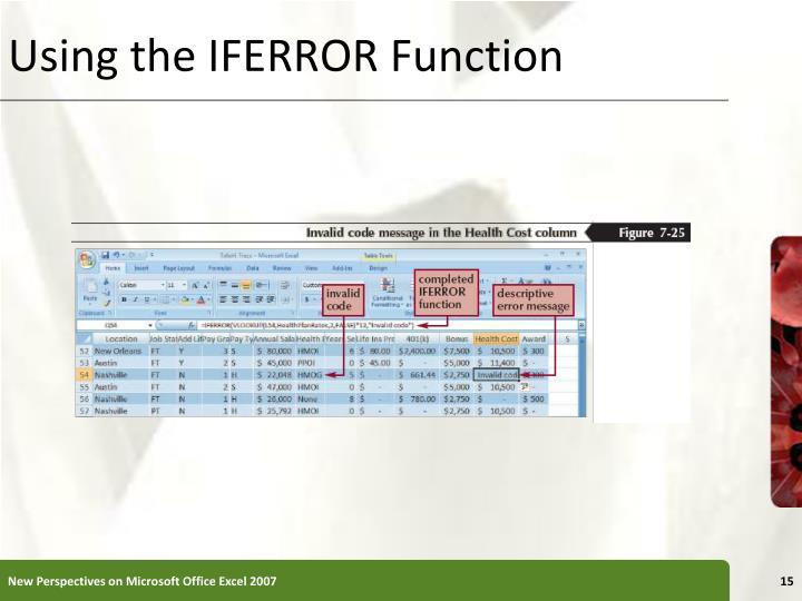 Using the IFERROR Function